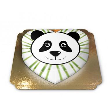 Gâteau Panda en forme de coeur