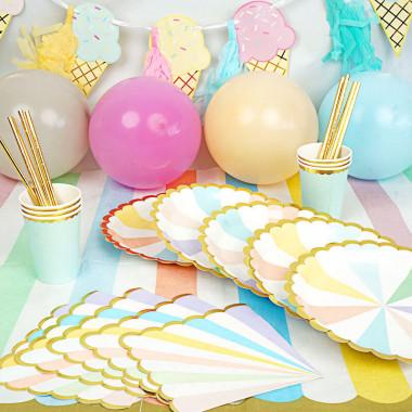 """Kit de décoration """"Anniversaire couleur pastel"""""""