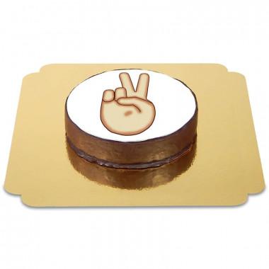 Gâteau Sacher Emoji Peace
