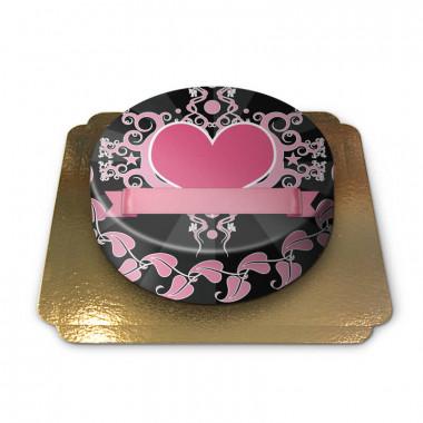 Gâteau coeur rose