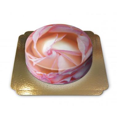 Gâteau pétales de rose