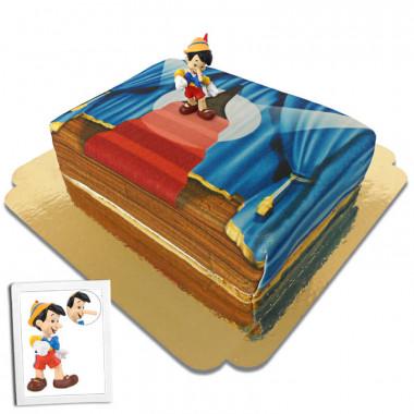 Pinocchio sur son gâteau-scène