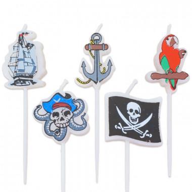 Bougies Pirates (5 pièces)