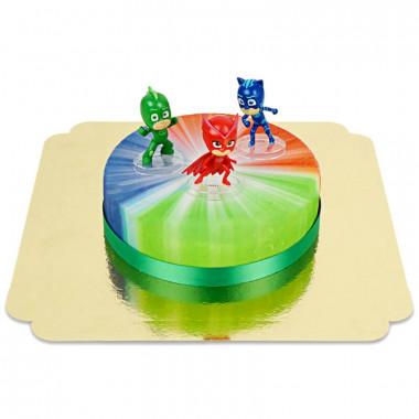 Les héros de Pyjamasques sur votre gâteau