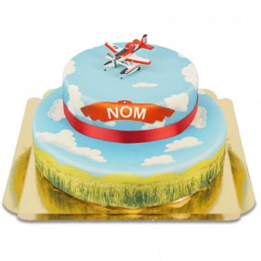 Planes- Lil'Deeper, Bravo & Blade sur gâteau nuages à 2 étages