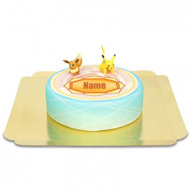 Pokémon sur gâteau badge