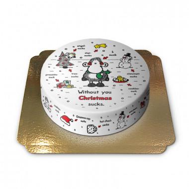 Gâteau Sheepworld - Sans toi Noël est stupide