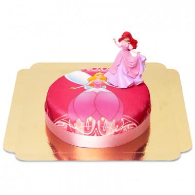Gâteau princesse avec figurine Ariel