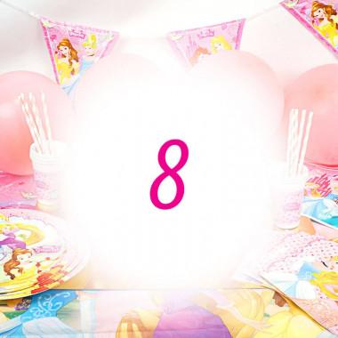 Kit anniversaire Princesse - 8 enfants (gâteau non inclu)