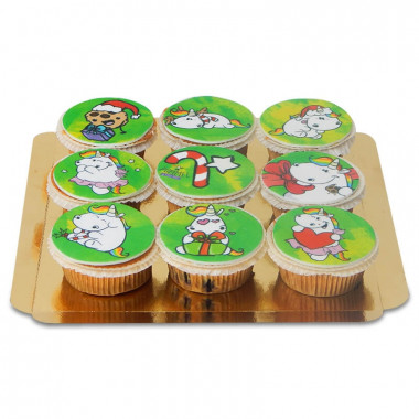 Cupcakes de Noël - Chubby Unicorn