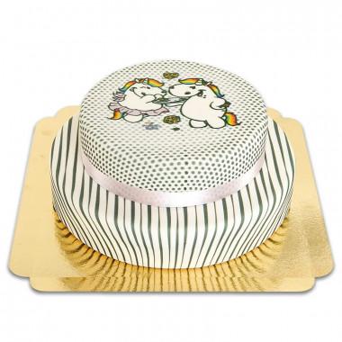 Gâteau Licorne Chubby à motifs - 2 étages