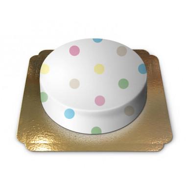 Gâteau Blanc à pois pastel