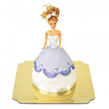 Gâteau Poupée avec Robe Mauve
