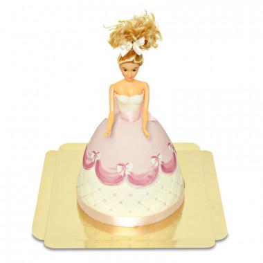 Gâteau Poupée Deluxe avec Robe Rose