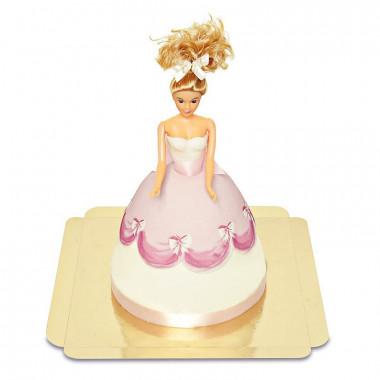 Gâteau Poupée avec Robe Rose
