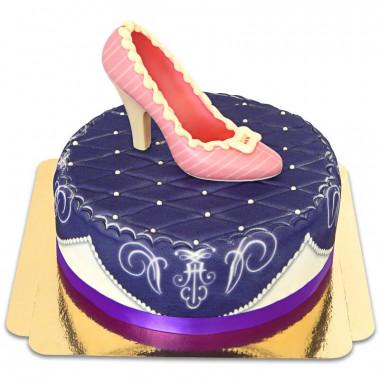 Escarpin en chocolat sur gâteau deluxe violet