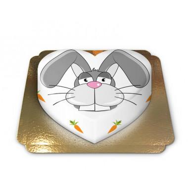 Gâteau Lapin en forme de coeur
