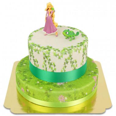Raiponce sur gâteau à 2 étages