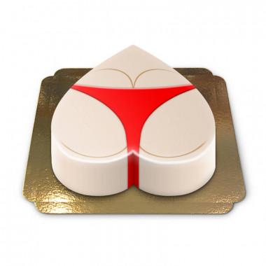 Gâteau fessier en bikini rouge