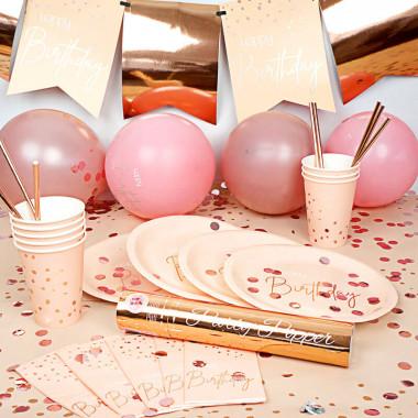 """Kit de décoration """"Anniversaire rose gold"""" (gâteau non inclus)"""