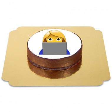 Gâteau Sacher Emoji Informaticienne
