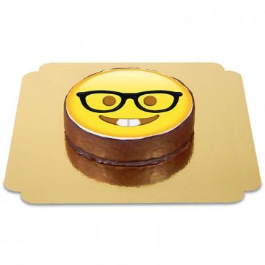 Gâteau Sacher Emoji Geek
