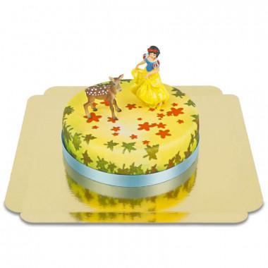 Figurine Blanche-Neige sur son gâteau prairie