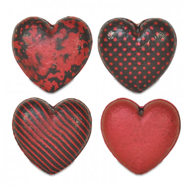 Coeurs en chocolat (4 pièces)
