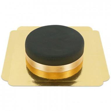 Gâteau noir avec ruban