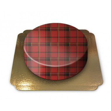 Gâteau Motif Écossais Rouge