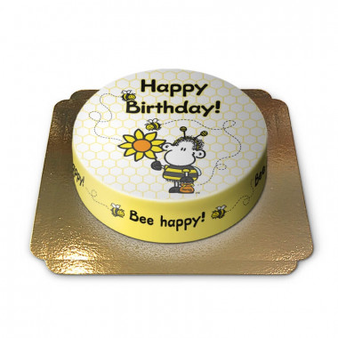 Gâteau d'anniversaire Sheepworld abeilles