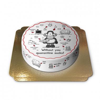 Gâteau Sheepworld - Spécial Quarantaine