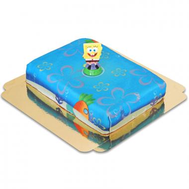 Bob l'éponge sur gâteau mer