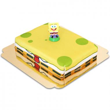 Bob l'éponge sur gâteau éponge