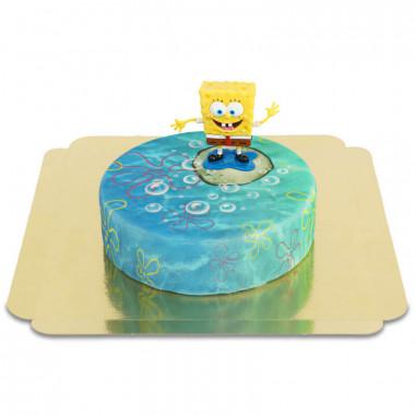 Bob l'éponge sur gâteau sous-marin