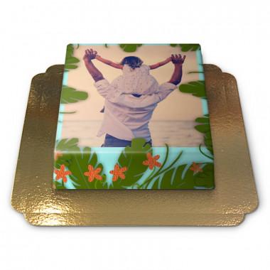 Gâteau Photo Tropical