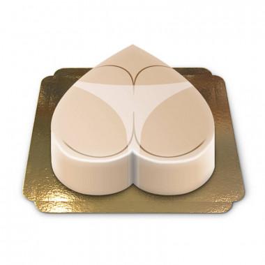 Gâteau fessier avec marque de bronzage