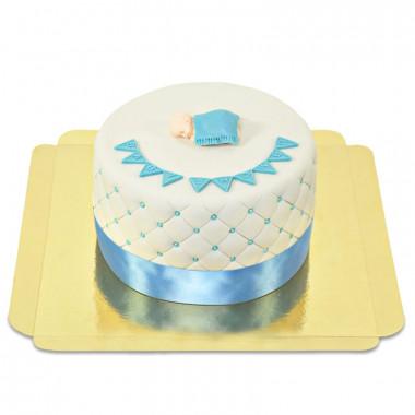 Gâteau Baby Shower Bleu