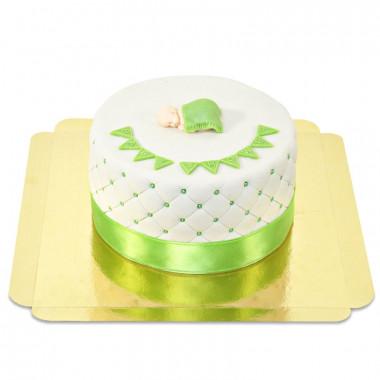 Gâteau Baby Shower Vert