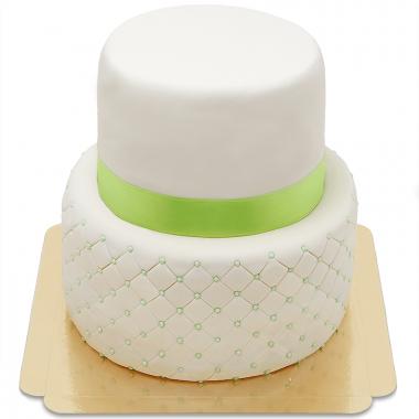"""Gâteau """"Happy Birthday"""" Deluxe à deux étages (plusieurs coloris)"""