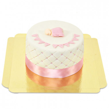 Gâteau Baby Shower Rose