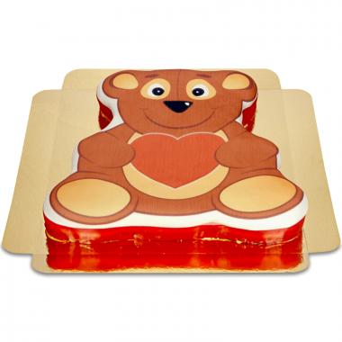 Gâteau ourson coeur