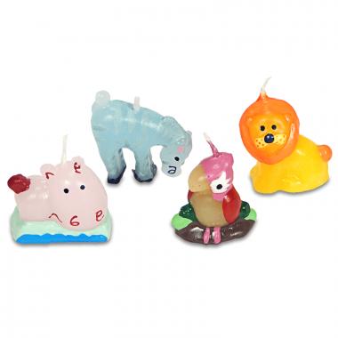 Bougies animaux (4 bougies)
