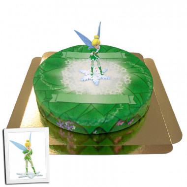 Clochette sur gâteau-forêt