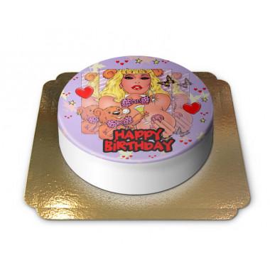 Gâteau d'anniversaire érotique