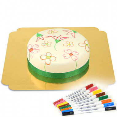 Gâteau & crayons alimentaires