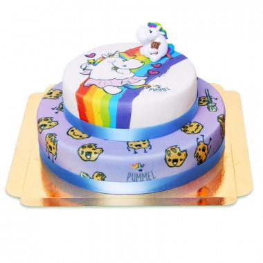 Gâteau Licorne Chubby Unicorn à deux étages