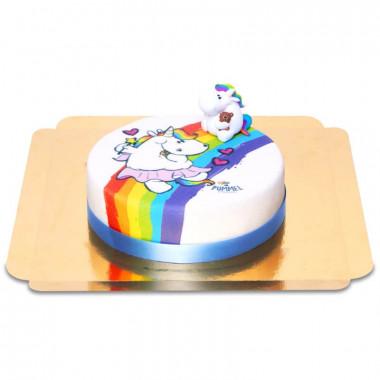 Gâteau Licorne Chubby Unicorn sur Arc-en-Ciel