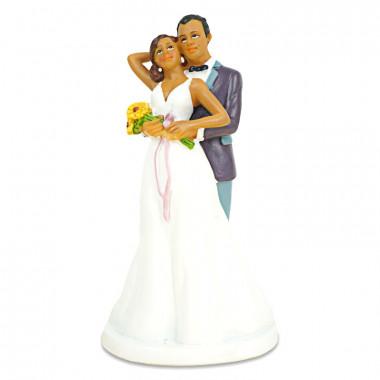 Figurine couple de mariés amoureux