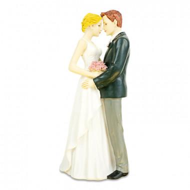 Figurine mariés qui s'enlacent
